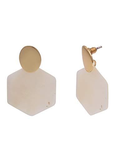 Leslii - Orecchini da donna in vero madreperla e oro bianco