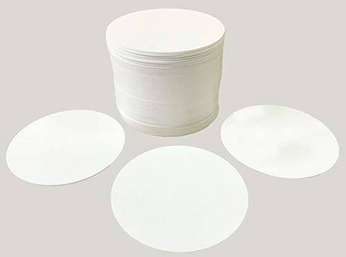 Vogt Foliendruck GmbH 100 Bierdeckel Untersetzer weiß Kunststoff Polypropylenfolie abwischbar Durchmesser 9,9 cm