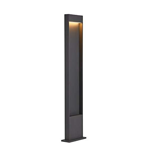 SLV LED Stehleuchte FLATT 100 | Design Außen-Standleuchte, Außenbeleuchtung | Outdoor LED Wege-Leuchte, Pollerleuchte, Garten-Lampe, Gartenbeleuchtung | CCT Switch (3000K/4000K), 400 lm, 9,7W