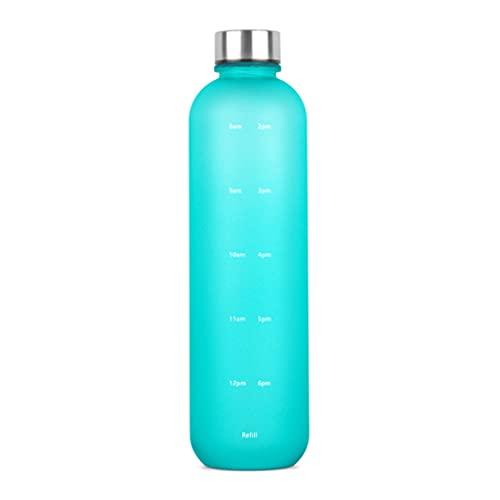 Botella de agua Ydh 1000 ml con marcadores de tiempo para deporte, fitness, gimnasio, oficina, resistente al agua, sin BPA