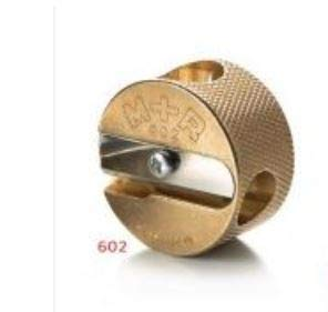 Mobius + Ruppert (M+R) Brass Artists Pencil Sharpener - choose from 4 shapes! Made in Germany - finest in the world! (602 - Double Round)