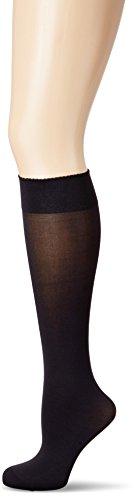 Wolford Damen Kniehohe Strümpfe & Overknees (LW) Velvet de Luxe 50 Knee-Highs, 50 DEN,black,Medium (M)