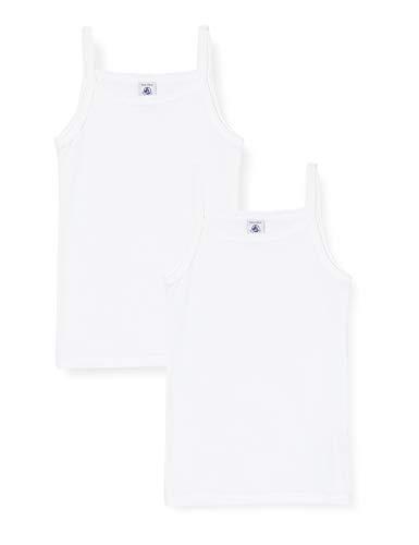 Petit Bateau 5329500 Camiseta sin Mangas, Blanco (Variante 1 Zga), 3 años para Niñas