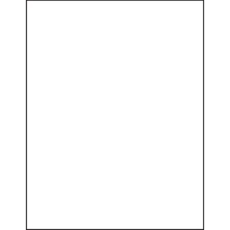 """Blank White Permanent Adhesive Labels for Laser/Ink Jet Printer (8.5"""" x 11"""" - Full Page   50 Labels)"""