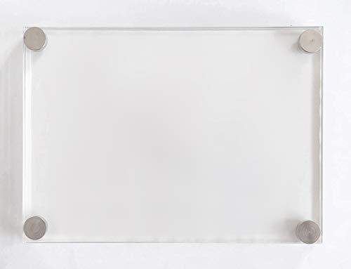 Doble Placa de Metacrilato Transparente Para Atornillar Marco de Acrílico Con Embellecedores Metalicos (A4-21X29,7 CM, TRANSPARENTE 5+5MM)