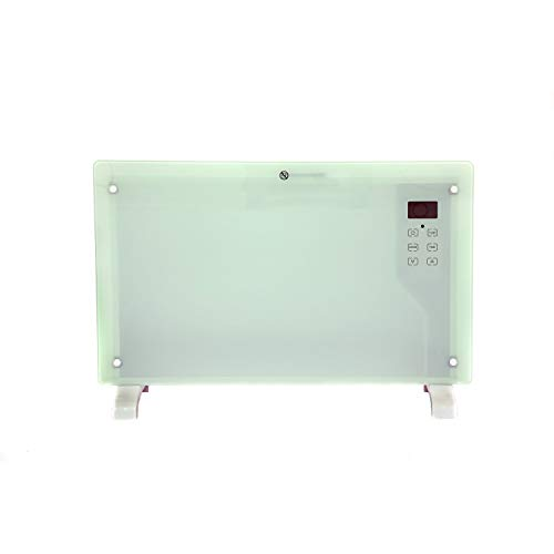 Oypla 2000W White Glass Free Standing/Wall Mounted Electric Panel Convector Heater