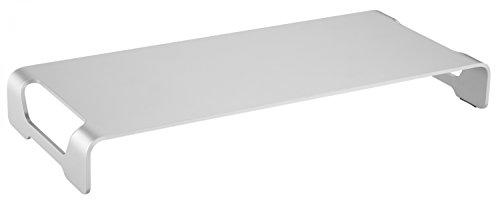 """RICOO Monitor Ständer MTS-042 Aufsatz Tisch Ständer Bildschirmständer Standfuss Bildschirmerhöhung Stand Rack Regal Lift Podest für Laptop oder Notebook Silber für ca. 11\""""-32\"""" Zoll (28-84cm)"""