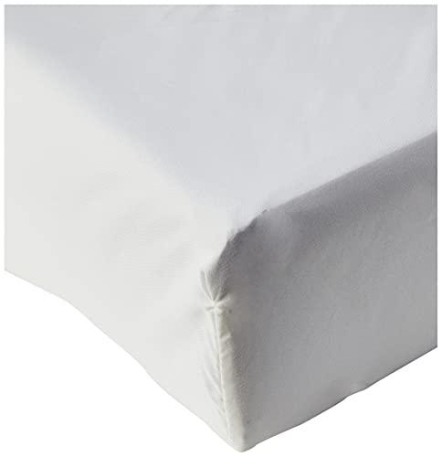 Amazon Basics FTD, Sábanas Ajustables, 150x200x30cm, Crema