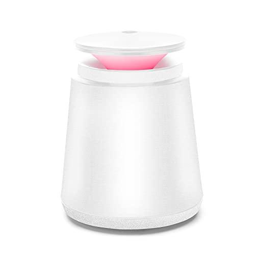 Natbeesy Mini Humidificador 350ML USB Función de sincronización automática 2 modos con LED de 7 colores para viajes de oficina de dormitorio en casa de escritorio Blanco