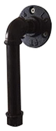 WUTONG Juego de 2 tiradores de hierro fundido Steampunk industrial creativos, tiradores de pared para tuberías de agua, pomos de cajón estilo retro (color: negro, tamaño: 65 mm de diámetro).