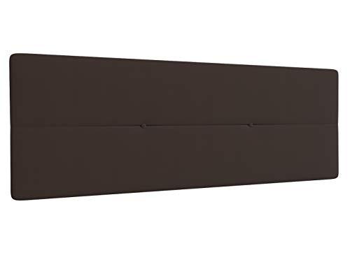 LA WEB DEL COLCHON Cabecero de Cama tapizado Acolchado Camile 145 x 55 cms Apto para Camas de 120 y 135 Textil Poliester Marron Incluye herrajes para Colgar con regulador de Altura
