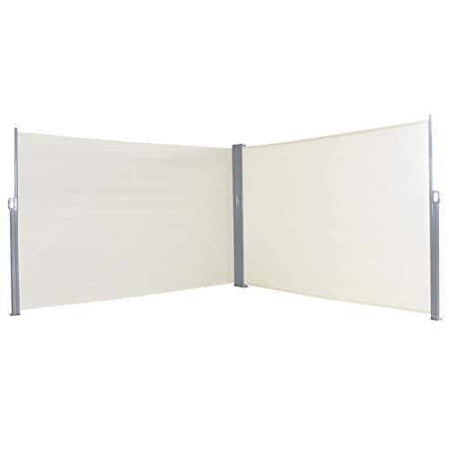 HENGMEI 200x600cm Sichtschutzwand Sichtschutz Sonnenschutz Seitenrollo Markise für Balkon Terrasse Garden (200 cm, Beige)