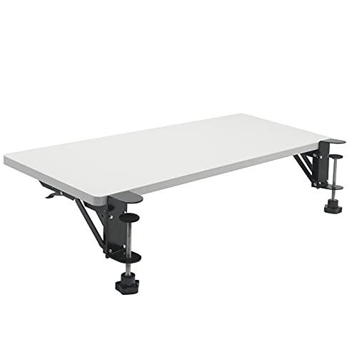 H&ZT Clamp-on Ergonomics Desk Extender Tray, 25.5'x9.8' Adjustable Keyboard Tray Armrest Shelf Stand, Computer Elbow Arm Support (25.5' x 9.8')