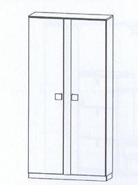 Bienenmuehle Vado Schuhschrank - 2trg. in Kernbuche vollmassiv