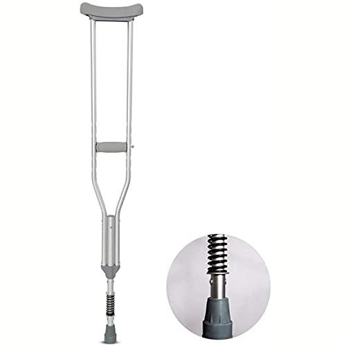 wsxc Muletas Axilas para Personas con discapacidad anciana, para Personas de 170-185 cm en Altura, diseño ergonómico de aleación de aleación de Aluminio Ligero Antideslizante. (Size : 126cm-139cm)