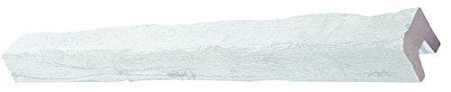 DECOSA Balken Tirol, weiß, 12 x 12 cm, 1 Balken ca. 4 m Länge