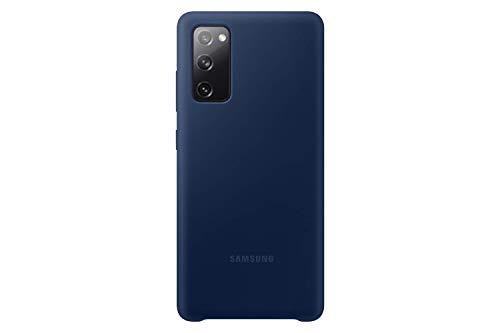 Samsung Silicone Smartphone Cover EF-PG780 für Galaxy S20 FE Handy-Hülle, Silikon, Schutz Hülle, stoßfest, dünn & griffig, Dunkelblau - 6.5 Zoll
