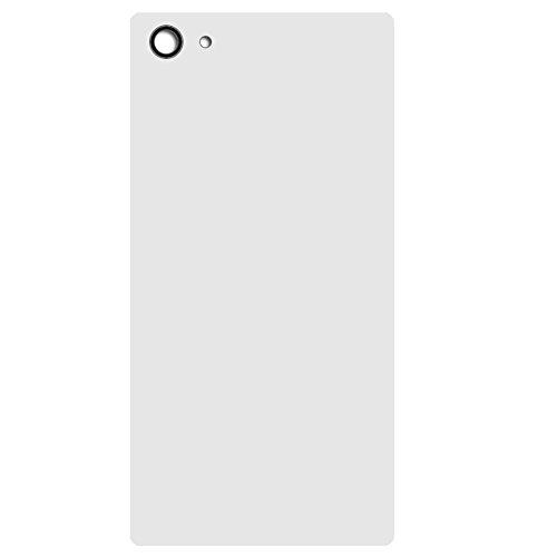 UU FIX Tapa de Batería para Sony Xperia Z5 Mini Compacto (Blanco) de la Reemplazo Parte Trasera Battery Cover con Kit Reparación.