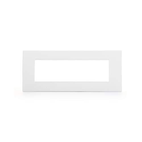 BTicino Livinglight Placca, 7 Moduli, Forma Rettangolare, Antracite