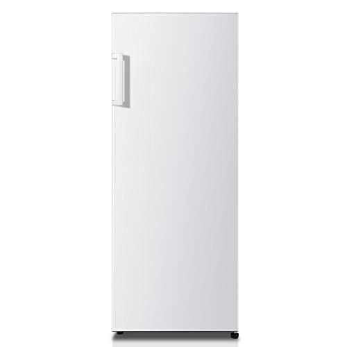 Hisense RL313D4AW1 - Frigorífico de una puerta, capacidad neta 243 L, 143.4 cm alto, patas ajustables, silencioso 40 dBA, Color blanco, Eficiencia Energética F