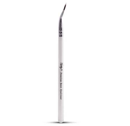 Nanshy Precise Ultra Fine Thin Tip Bent Eyeliner Makeup Brush for Applying Gel Cream Liquid Eye Liner