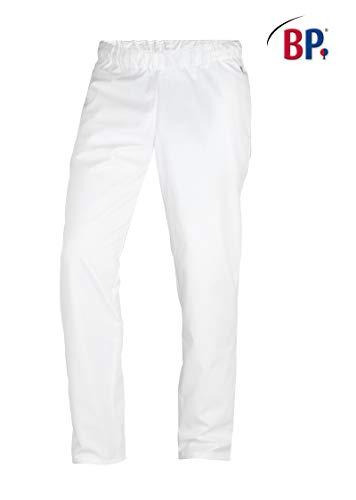 BP 1645-400-21-Ln spodnie uniseks, z gumowym ściągaczem w talii, 215,00 g/m², mieszanka materiału, białe, Ln