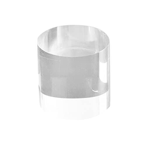 aeso 透明 アクリル リング ディスプレイスタンド ラウンド ディスプレイブロック ジュエリー フィギュア ホルダー - 5x8cm
