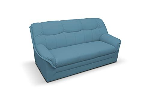 DOMO. collection Berlin FK, klassisches Sofa,Sitzer mit Federkern, Polstergarnitur, blau, 3