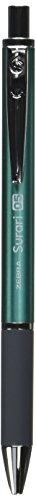 Zebra Emulsion Ink Ballpoint Pen Surari 300 0.5mm Point, Blue Green Body (BAS38-BG)