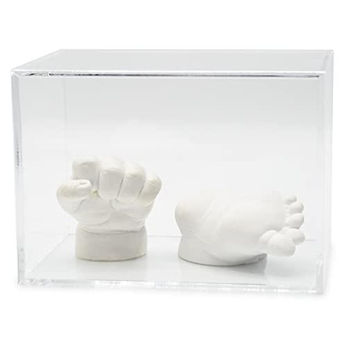 Lucky Hands® Vitrinas de Cristal acrílico sin inscripción (13 cm x 13 cm x 18 cm, sin Piso de Fieltro)