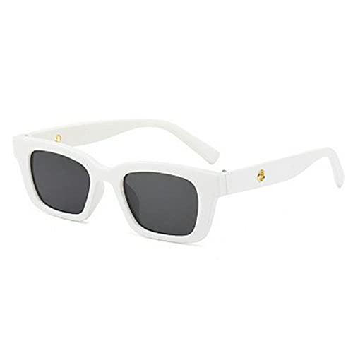 kkkl Gafas de Sol rectangulares Vintage para Mujer, Gafas de Sol Puntiagudas Retro, Gafas de Mujer para Mujer, Gafas de conducción de Ojo de Gato