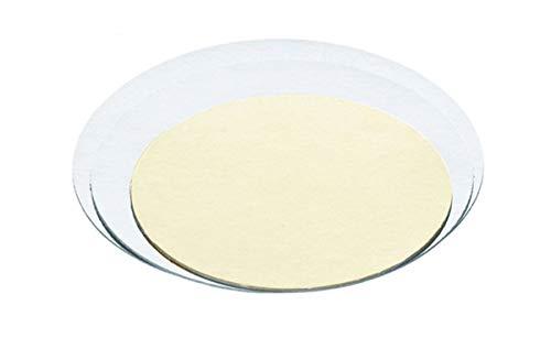 Yagma Juego de 2 platos para tartas dorados y plateados, 30 cm, redondos