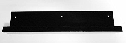 Estante, Balda Metacrilato (PMMA) con taladros de sujeción (Negro, 1000x80x120 mm)