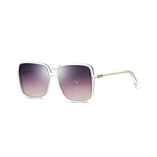 Gafas de sol para mujer, de nailon de alta definición, cuadradas, con marco grande, visera antiultravioleta, protección Uv400, de alta calidad, ligeras, clásicas, retro, para mujer