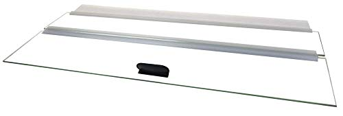 H2Pro 24' Glass Canopy 15/20/ 55-Gallon Aquarium Fish Tank (23.07 x 11.69 x 0.16in)