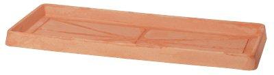 Manna Similcotto - Plato rectangular para jardineras (100 cm), color terracota