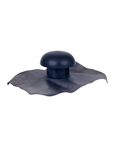 Nicoll - Chapeau de ventilation a collerette d etancheite 40x33 ardoise o 100 cd10