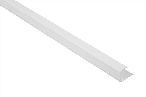 2 Meter | U-Profile | Einfassprofile | PVC | stoßfest | resistent | Lemal | 12,5 mm | weiß | PT5