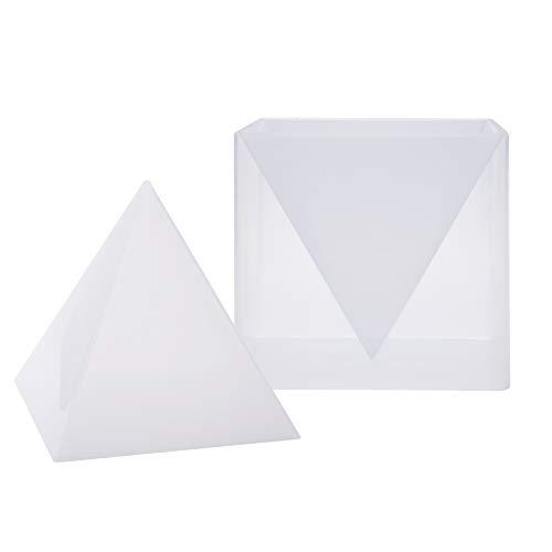 Piramide in silicone resina per gioielli, stampo + struttura in plastica