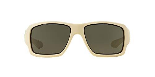 Oakley Herren Sonnenbrille Big Taco, Matte Bone/Dark Grey, M, OO9173-07