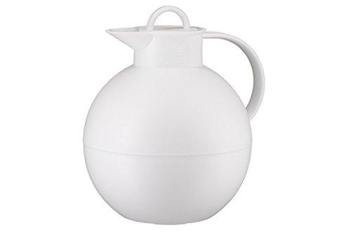 alfi 0115.012.094 Isolierkanne Kugel, Kunststoff Weiß 0,94 l, 12 Stunden heiß, 24 Stunden kalt, Frosted