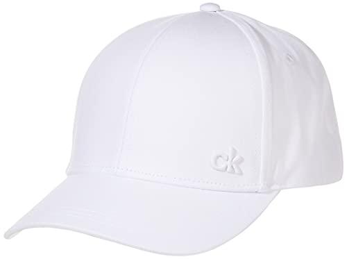 Calvin Klein Men's Ck Baseball Cap, White (White 101), One (Size: OS)
