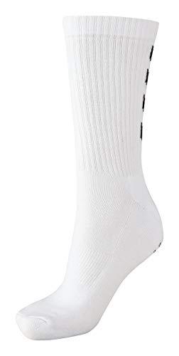 Hummel Socken 3er Set in Grau, Rot oder Blau - REFLECTOR FUNDAMENTAL 3-PACK SOCK - Strümpfe mit Unterstützung für Fußrücken - Sportsocken für Freizeit & Sport, white, 10 (36-40), 22-140-9001