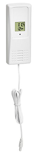 TFA Dostmann 30.3229.02 TFA T Display Sender Kabel ohne Batterie weiß, FS-NEUTR, Black