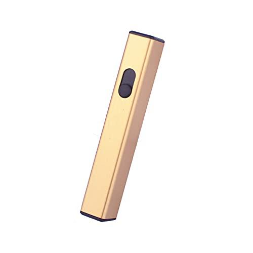Goldclipper Mini-Aufladung Plasma-Bogen-Feuerzeug-USB-Feuerzeuge Zigarettenanzünder-Induktion Winddicht im Freien elektronische Gadgets für Männer Geschenk Küchenübereinstimmungen ( Farbe : Gold )