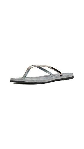 Havaianas Women's You Metallic Sandal, Steel Grey,37/38 BR (7-8 M US)