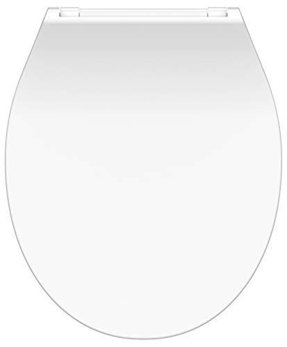 SCHÜTTE WC-Sitz Duroplast SLIM WHITE, Toilettensitz mit Absenkautomatik und Schnellverschluss für die einfache Reinigung, besonders flache Form, maximale Belastung 150 kg, 82700, Anthrazit