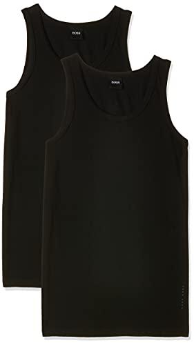 BOSS Tank Top CO/EL Debardeurs de Sport, Noir (Black), XX-Large (Lot de 2) Homme