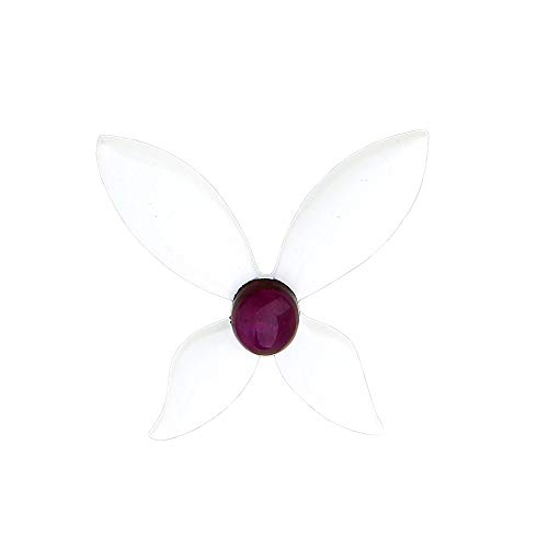 hanrehse Moth Ladybug Pin Purple Stone Butterfly Brooch Ladybug Party Costume Anime Trendy Jewelry Women Gift Lapel Pins Badge