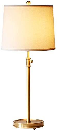 okuya Europea del metal lámpara de cabecera ajustable American Copper lámpara de mesa creativa simple tela turística de la personalidad de la lámpara de la lámpara de lectura Comedor Loft Offic Luces